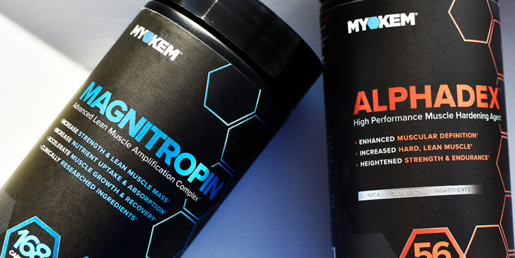 Magnitropin and alphadex bottles