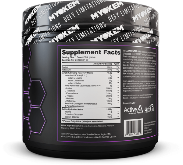 mtor pro supplement facts
