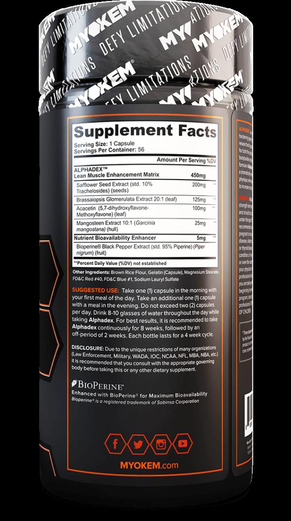 alphadex bottle supplement facts
