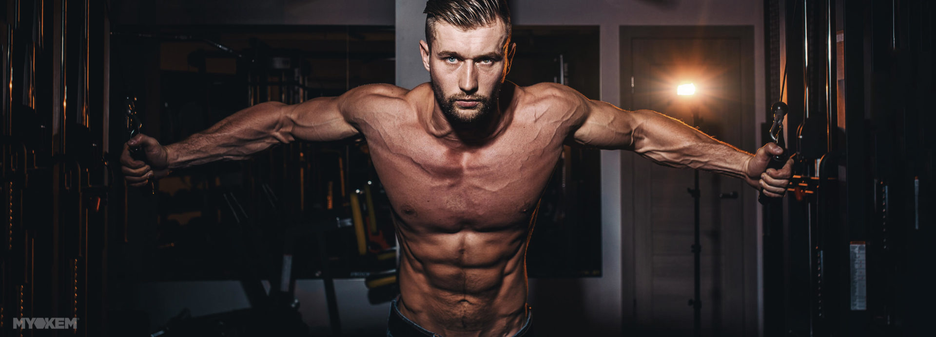 Model that takes Alphadex to keep muscles defined