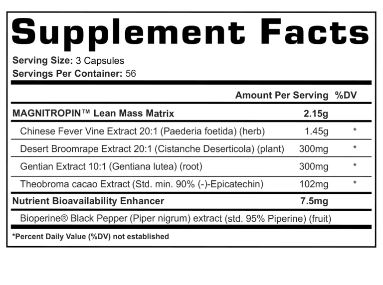 Magnitropin Supplement Facts