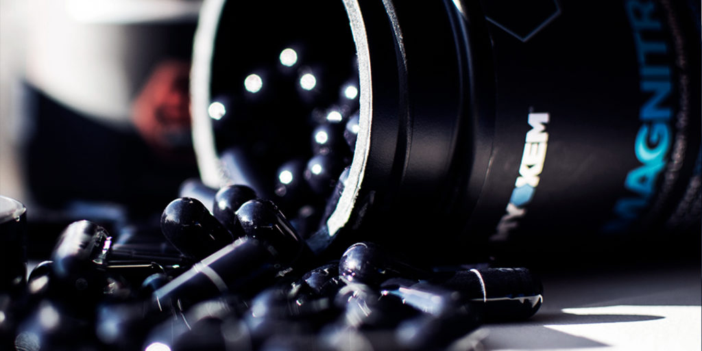 Bottle of Magnitropin Myokem testosterone booster