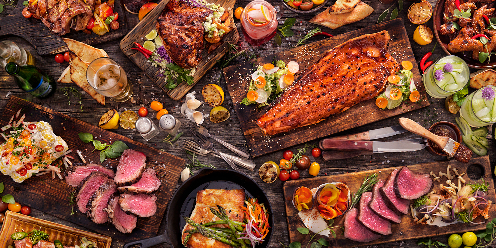 high quality food on table