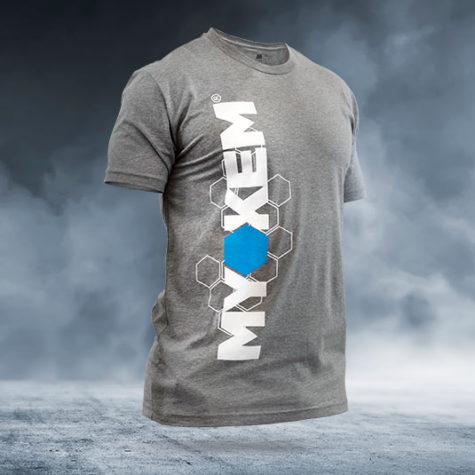 myokem crew neck t shirt on background