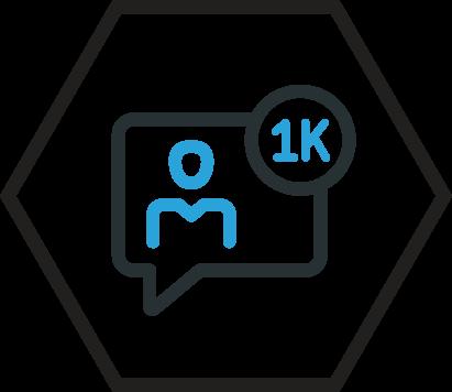 1k followers icon